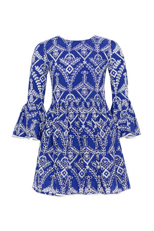 Bardot Junior Girl's Sia Broderie Long-Sleeve Dress, Size 7-16