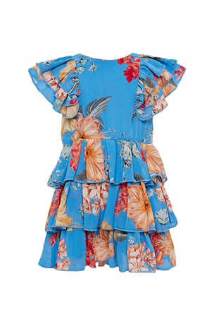 Bardot Junior Girl's Beverly Floral Tiered Dress, Size 7-16