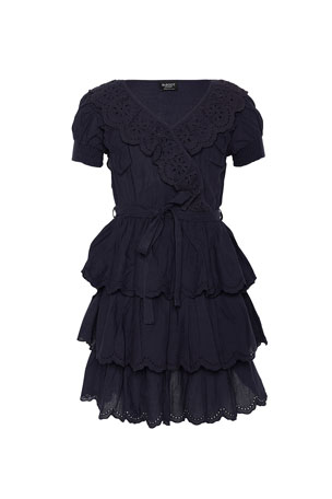 Bardot Junior Girl's Cindy Broderie Mock Wrap Dress, Size 7-16