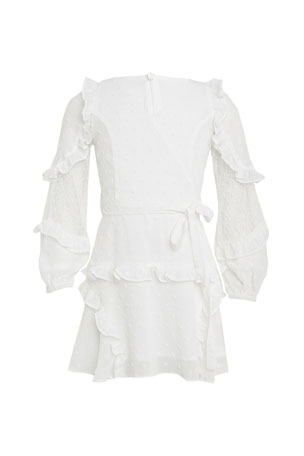 Bardot Junior Girl's Mimi Dobby Long-Sleeve Dress, Size 7-16