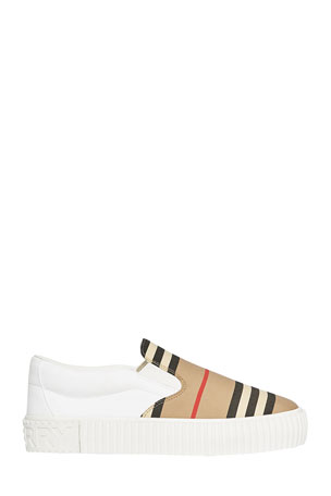Burberry Erwin Icon Stripe Slip-On Sneakers, Baby/Toddler