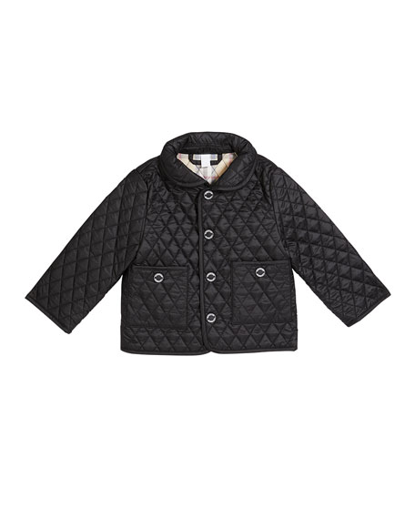 Burberry Boy's Colin Quilted Jacket, Size 3-18 Months