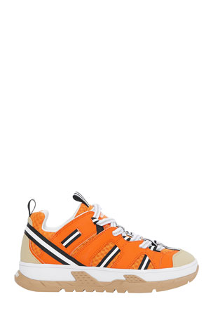 Burberry Mini Union Mixed-Media Sneakers, Toddler/Kids