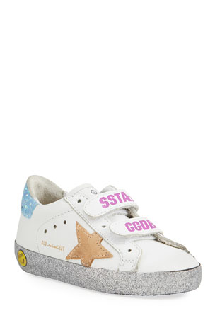 Golden Goose Girl's Old School Leather Sneakers, Toddler/Kids