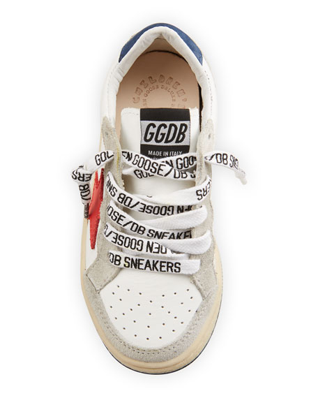 Image 3 of 4: Golden Goose Ball Star Leather Low-Top Sneakers, Baby/Toddler