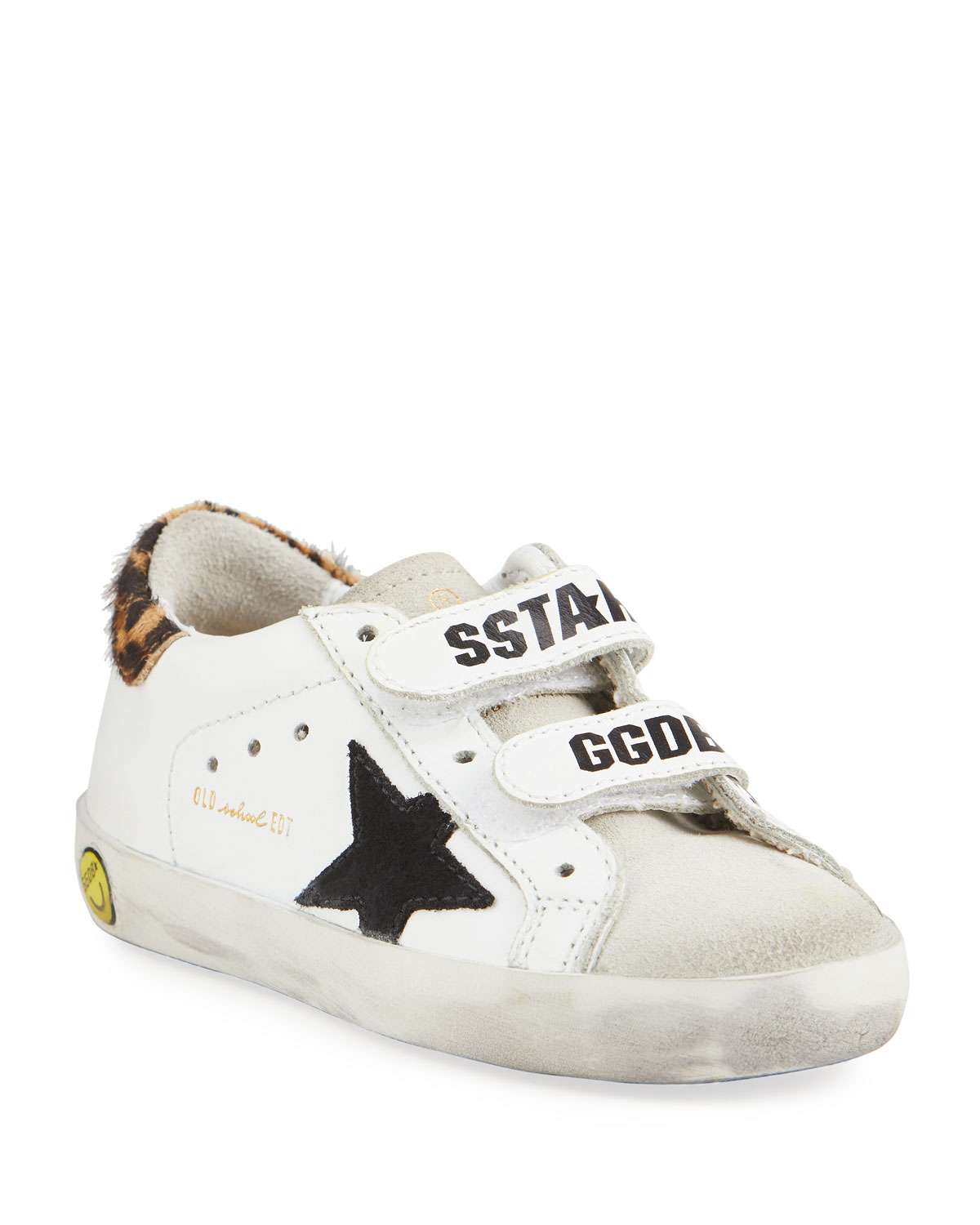 Golden Goose Girl's Old School Leather Sneakers, Baby/Toddler