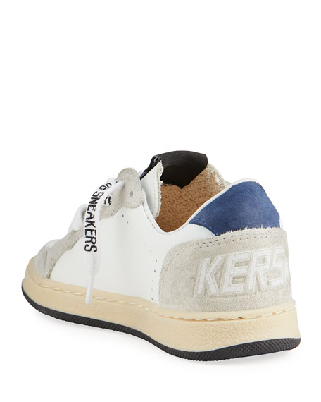 Image 4 of 4: Golden Goose Ball Star Leather Low-Top Sneakers, Kids