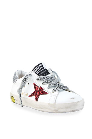 Golden Goose Star Leather Low-Top Sneakers, Baby/Toddler