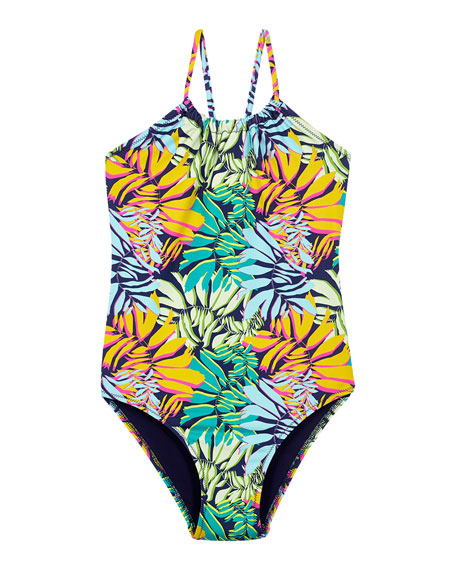 Vilebrequin Girl's Jungle Print One-Piece Swimsuit, Size 2-12