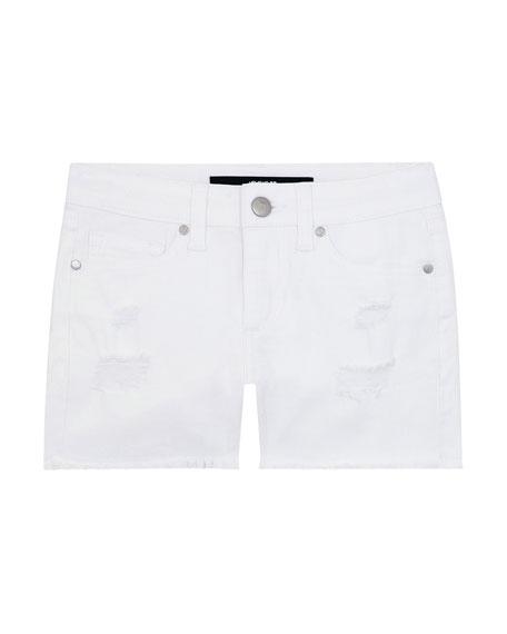 Joe's Jeans Girl's Mid-Rise Distressed Stretch Denim Shorts, Size 7-16