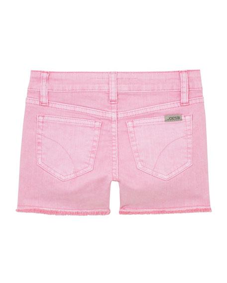 Joe's Jeans Girl's Markie Stretch Twill Frayed-Hem Shorts, Size 7-16