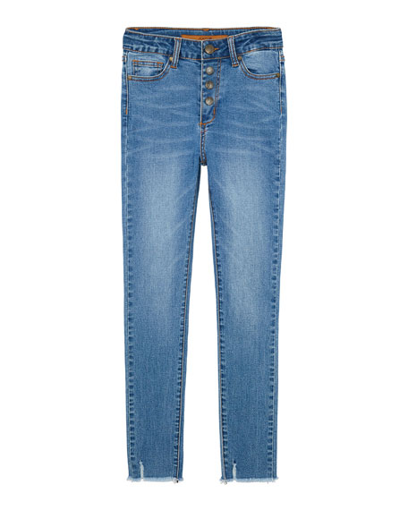 Joe's Jeans Girl's High Rise Button Fly Ankle Jeans w/ Raw Hem, Size 7-16