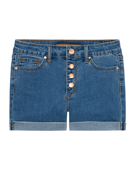 Joe's Jeans Girl's High Rise Button Fly Denim Shorts, Size 7-16