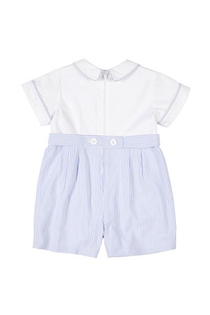 6//9 mo Infant Boys Harry /& Violet $36 2pc Blue /& White Outfit Size 0//3 mo