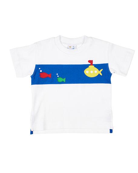 Florence Eiseman Boy's Submarine Fish T-Shirt, Size 6-24 Months
