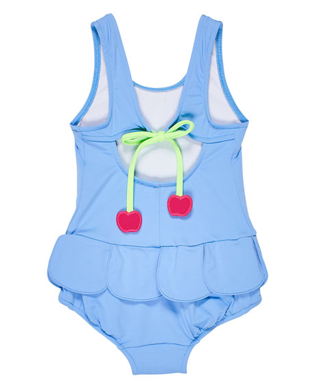 Florence Eiseman Girl's Petal Skirt One-Piece Swimsuit, Size 6-24 Months