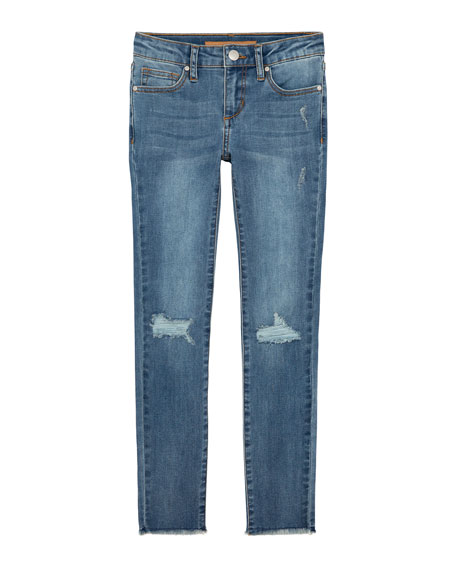 Joe's Jeans Girl's Mid Rise Distressed Skinny Jeans, Size 7-16