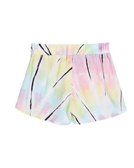 Flowers By Zoe Girl's Tiger Pastel Tie Dye Shorts, Size S-XL