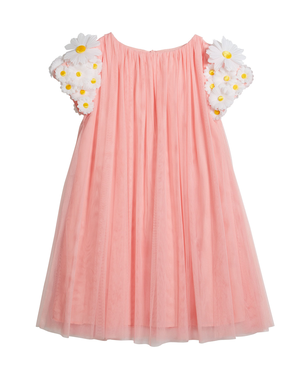 Charabia Girl's Tulle 3D Butterfly Dress, Size 6-12
