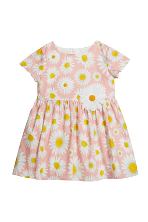 Charabia Girl's Daisy Short-Sleeve Knit Dress, Size 12M-2