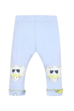 Kenzo Boy's Reversible Animal Graphic Leggings, Size 3-18 Months