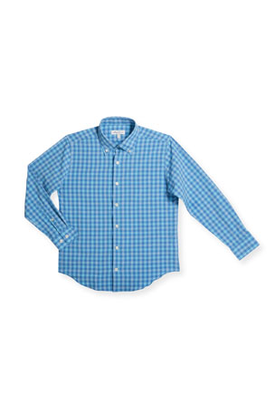 Peter Millar Boy's Cornelius Check Woven Top, Size XXS-XL