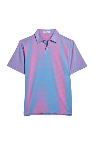 Peter Millar Boy's Sean Joyce Stripe Stretch Jersey Polo Shirt, Size XXS-XL