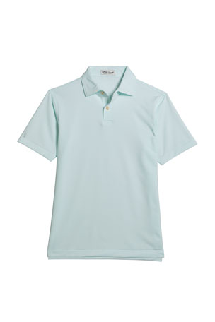 Peter Millar Boy's Halford Stripe Stretch Jersey Polo Shirt, Size XXS-XL