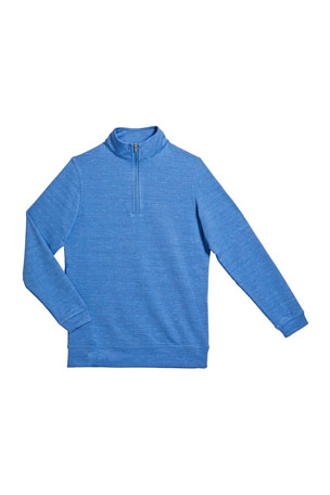 Peter Millar Boy's Crown Sport Second Layer Quarter-Zip Pullover, Size XXS-XL
