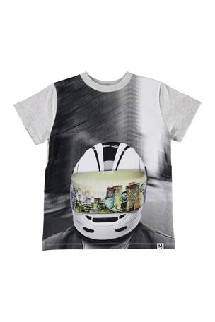 Molo Kid's Road Biker Helmet City Reflection Graphic Tee, Size 4-12