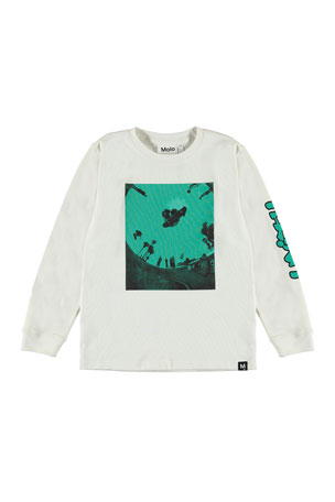 Molo Boy's Rogert Skateboarder Graphic Long-Sleeve T-Shirt, Size 4-12