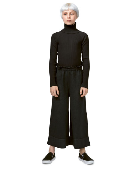 Image 2 of 3: Girl's Alta Wide-Leg Solid Pants, Size 6-16