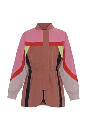 Molo Girl's Heather Colorblocked Jacket, Size 4-16