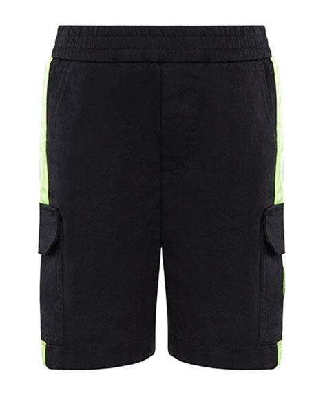 Moncler Boy's Bermuda Stretch Shorts w/ Contrast Trim, Size 8-14