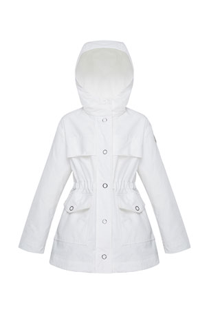 Moncler Girl's Technique Short Snap Front Parka, Size 8-14