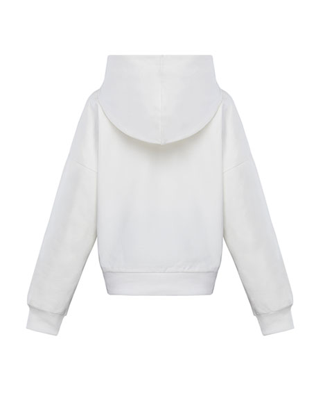 Moncler Girl's Multicolor Logo Hoodie, Size 8-14