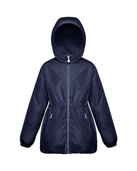 Moncler Girl's Technique Hooded Jacket, Size 4-6