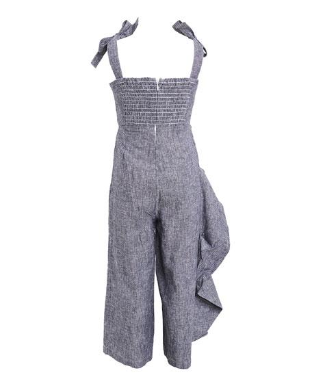 Bardot Junior Girl's Evah Tie-Shoulder Ruffle Jumpsuit, Size 7-16
