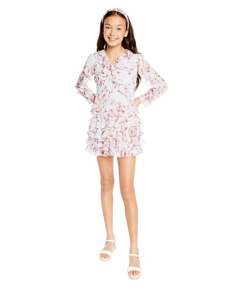 Bardot Junior Girl's Lianna Floral-Print Frill Dress, Size 7-16
