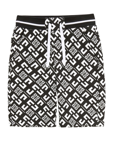 Image 1 of 1: Boy's 4-G Printed Drawstring Shorts, Size 12-14