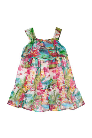 Newmao Toddler Baby Girl Easter Sleeveless Vest Cartoon Rabbit Print Mesh Dress Clothes
