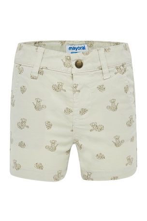 Mayoral Boy's Baby Tiger Printed Shorts, Size 6-36 Months