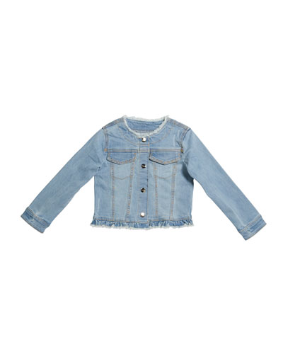 Girl's Denim Jacket with Studs  Size 4-7