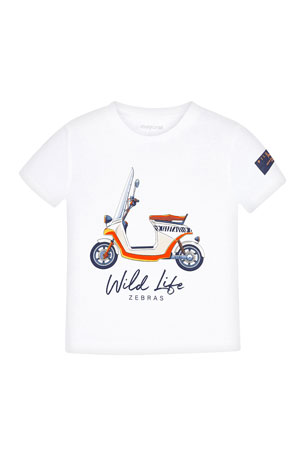 Mayoral Boy's Moped Graphic Short-Sleeve T-Shirt, Size 4-7