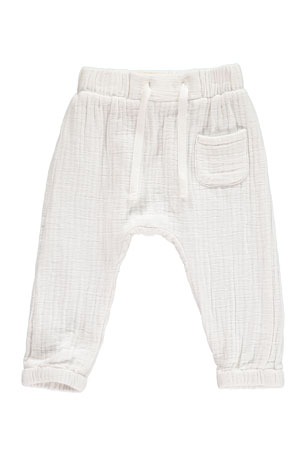Me & Henry Boy's Gauze Jogger Trousers w/ Children's Book, Size 3T-8