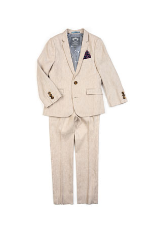 Appaman Boy's Two-Piece Mod Linen-Blend Suit, 2-14