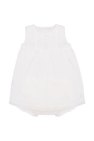 Pili Carrera Girl's Lace Trim Sleeveless Dress w/ Bloomers, Size 3-18 Months