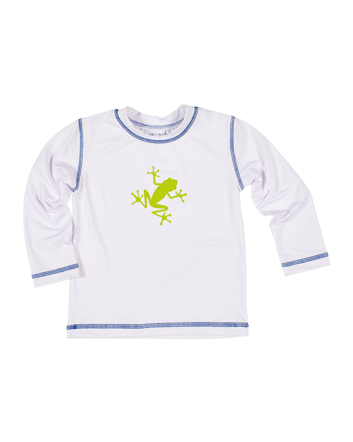 Florence Eiseman Boy's Frog Screen Printed Rash Guard, Size 4T-4