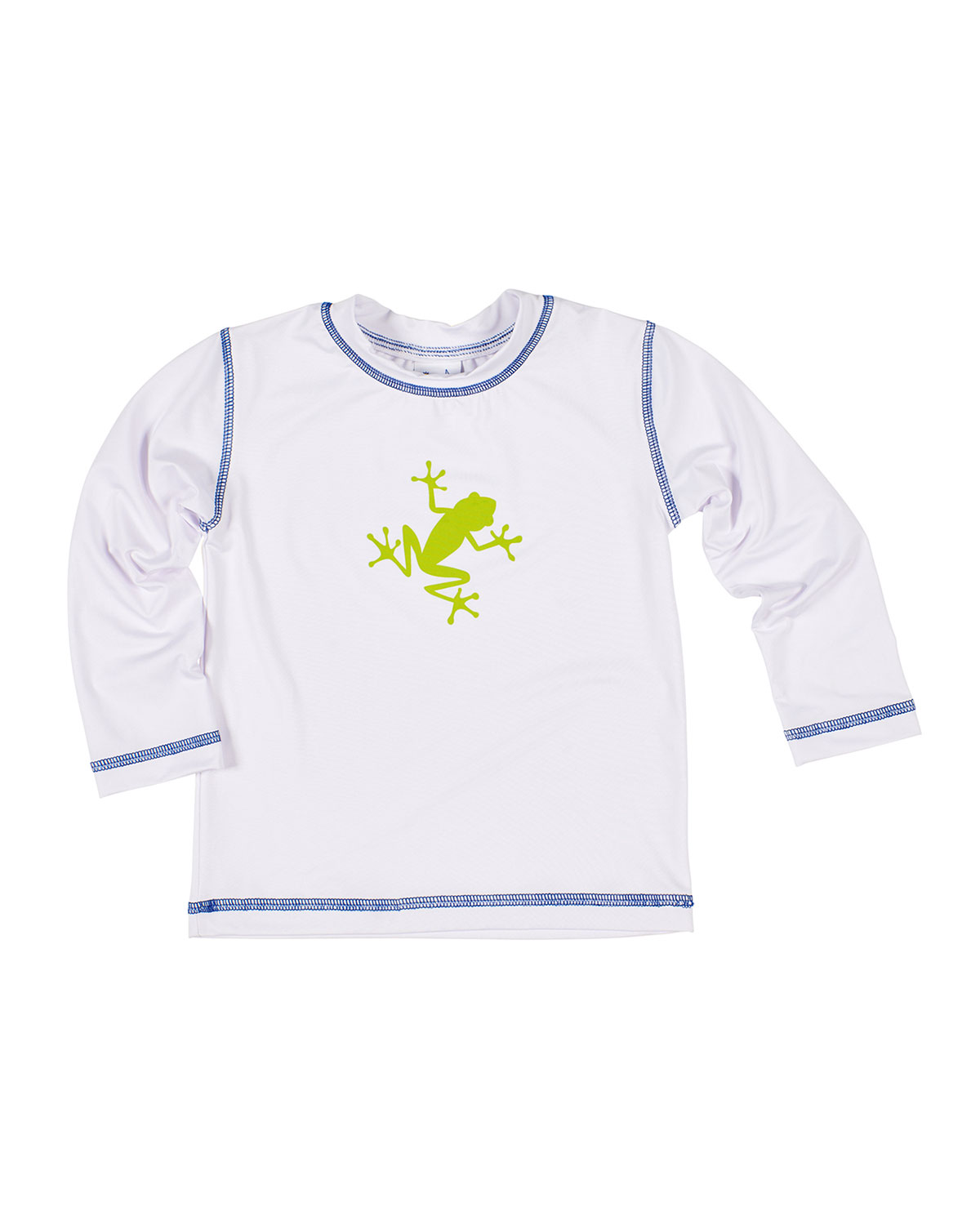 Florence Eiseman Boy's Frog Screen Printed Rash Guard, Size 6-24 Months