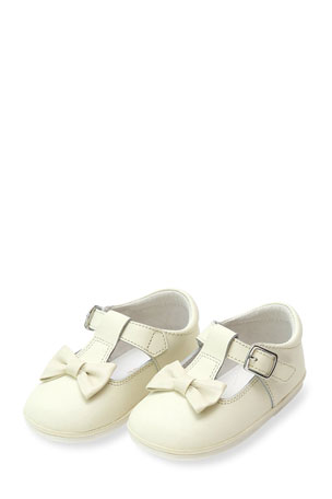 L'Amour Shoes Minnie Bow Leather Mary Janes, Baby